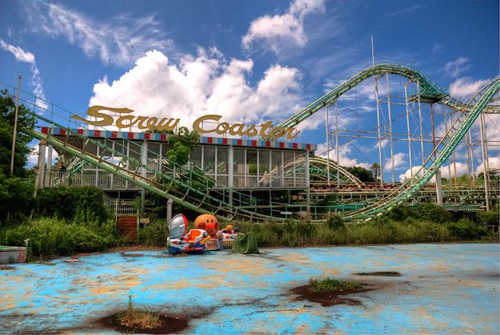 Screw Coaster im japanischen Freizeitpark Nara Dreamland. Foto: Kyle Merriman via BrandKnewMe