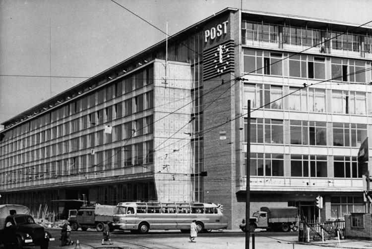 Hauptpost am Augustusplatz 1964. Foto: Bundesarchiv/CC BY-SA 3.0