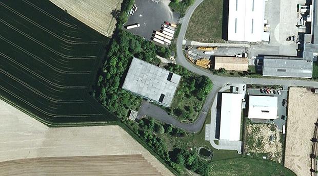 Ehemaliger Bunker im Industriegebiet West. Foto: Google Maps