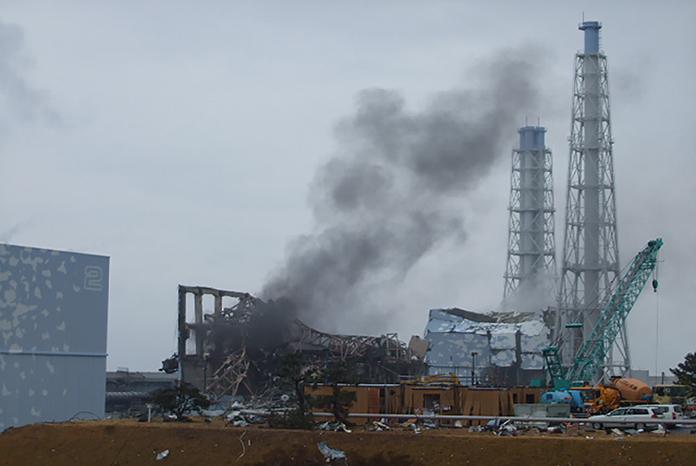 Zerstörtes Reaktorgebäude 3 in 2011. Foto: TEPCO
