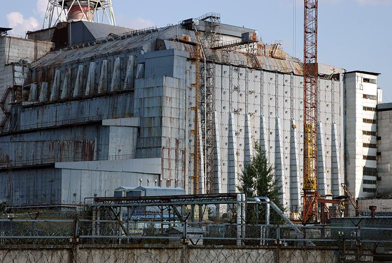Erster Sarkophag um Reaktor IV. Foto: IAEA Imagebank/CC BY-SA 2.0