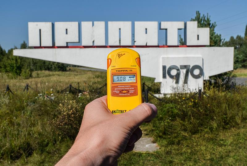 Gemessene Strahlung in Prypjat. Foto: Alex Kühni/CC BY-SA 2.0