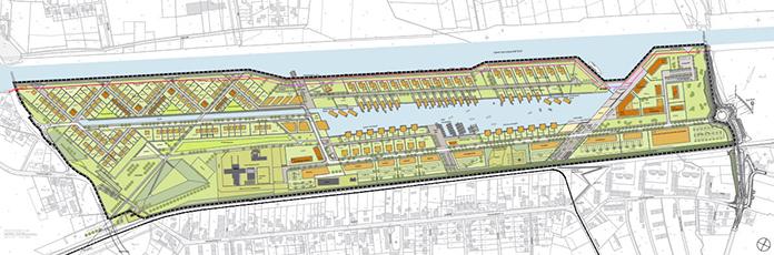 Städtebaulicher Rahmenplan Wasserstadt Aden. Foto: DSK Beteiligungs Komplementär GmbH