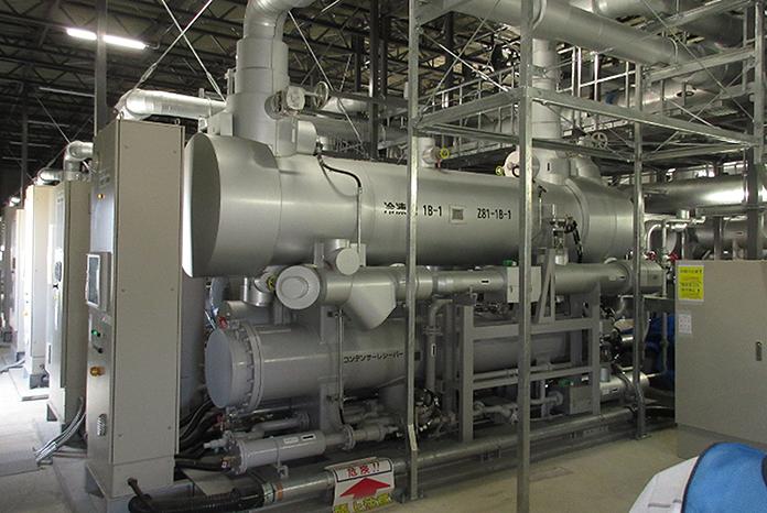 Gefriereinheit des Eiswallprojektes. Foto: TEPCO