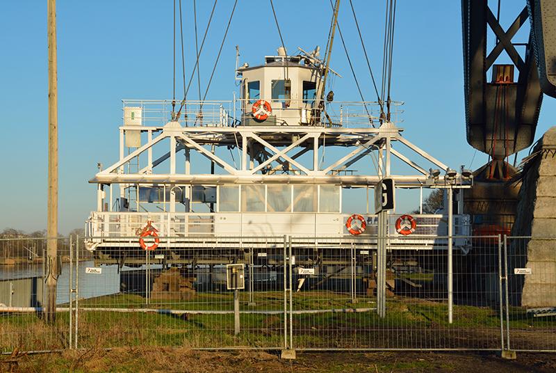 Die Schwebefähre wurde bei einer Havarie am 8. Januar zerstört. Foto: Nightflyer/CC BY-SA 4.0