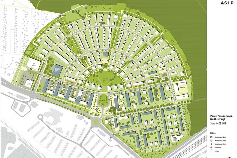 Das Strukturkonzept für den Pioneer Park Hanau. Foto: Albert Speer & Partner