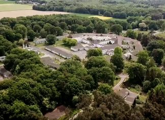 Ehemaliges RAF-Hospital auf dem JHQ-Areal. Foto: YouTube/privat